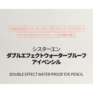 メール便 送料無料 シスターエンダブルエフェクトウォータープルーフアイペンシル(Double Effect Water Proof Eye Pencil) キラキラ SISTER ANN / シスターアン|koreatrade|02