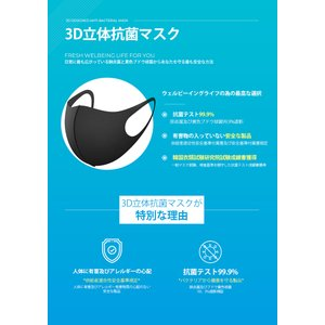 メール便 送料無料 INNOPIA 3D立体型マスク BLACK、ホワイト 水洗浄 ファッションフェイスカバー フェイスカバー  洗える 水洗浄OK マスク 韓国製 UV遮断|koreatrade|02
