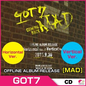 GOT7 OFFLINE ALBUM RELEASE アルバム [MAD] ★ Horizontal / Verticalバージョンの選択!★ koreatrade