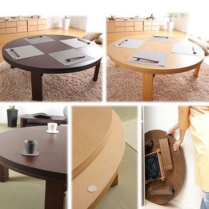 天然木 丸型 折れ脚 こたつ ロンド 120cm 円形 折りたたみ  こたつテーブル|koreene|02