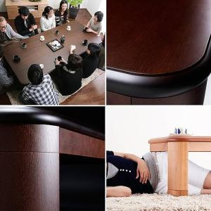 会員価格有)楢 ラウンド 折れ脚 こたつ リラ 210×100cm 長方形 折りたたみ こたつテーブル|koreene|02