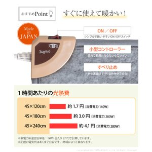 キッチンマット ホットカーペット キッチン用ホットカーペット 〔コージー〕 45x120cm 本体のみ 日本製|koreene|03