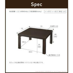 9%OFFクーポン対象)こたつ テーブル スクエアこたつ 〔バルト〕 単品 75x75cm 折れ脚|koreene|04