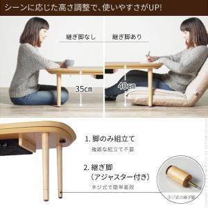 こたつ テーブル 丸くてやさしい北欧デザインこたつ 〔モイ〕 90x60cm 長方形|koreene|02