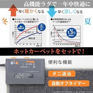 Sale)ホットカーペット カバー モダンデザインホットカーペット・カバー 〔ピーク〕 1.5畳(200x140cm)+ホットカーペット本体セット 洗える|koreene|02