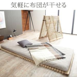すのこベッド 折りたたみ 通気性2倍の折りたたみ「みやび格子」すのこベッド シングル 二つ折りタイプ|koreene|03