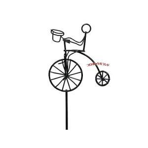 自転車モチ−フのワイヤー製ガーデンピックです。 2デザイン販売しています。  サイズ(約):全長36...
