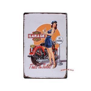 メタルプレートS(GARAGE GIRL)■ゆうパケット発送OK|koromini