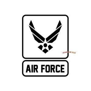 AIRFORCEカッティングステッカー(黒・C)■ゆうパケット発送OK|koromini