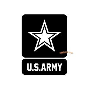 ARMYカッティングステッカー(黒・B)■ゆうパケット発送OK|koromini
