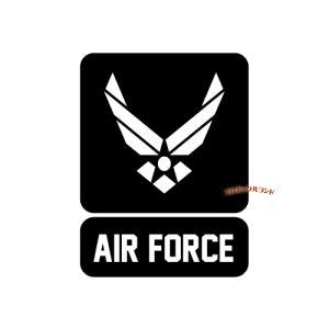 AIRFORCEカッティングステッカー(黒・B)■ゆうパケット発送OK|koromini