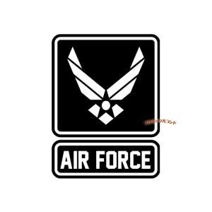 AIRFORCEカッティングステッカー(黒・A)■ゆうパケット発送OK|koromini