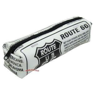 ペンケース(ROUTE66ホワイト)■ゆうパケット発送OK|koromini