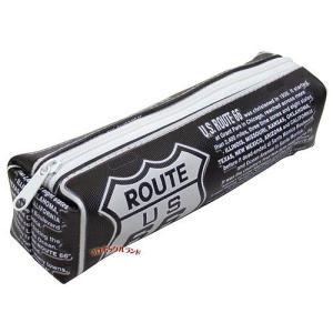 ペンケース(ROUTE66ブラック)■ゆうパケット発送OK|koromini