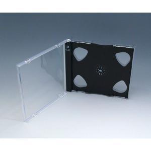 3ディスク PSケース 黒 100個 3枚用CDケース kosakashop