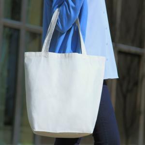 コットンエコトートバッグ 厚手シーチング マチ付き 200枚 1枚230円 無地・名入れプリント可能(トート・エコ)|kosakashop
