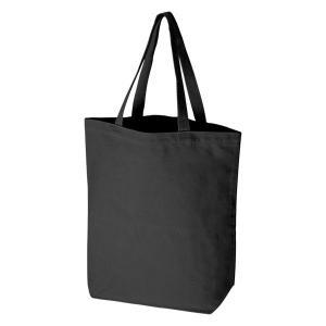 キャンバストート (縦型/L) 黒  100枚  1枚296円  無地 名入れプリント可能 コットンバッグ エコバッグ|kosakashop