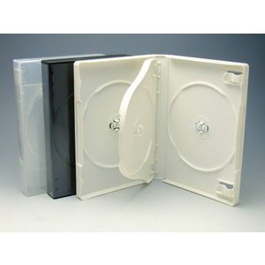 厚手Mロックケース 3枚用 白/スーパークリア マルチタイプ   DVDケース・トールケース3枚用|kosakashop