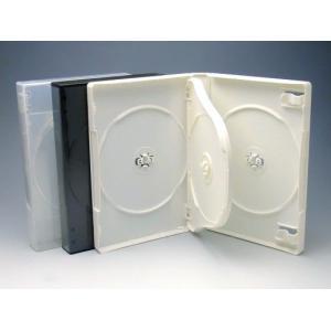 厚手Mロックケース 4枚用 白/スーパークリア マルチタイプ  DVDケース・トールケース4枚用 kosakashop