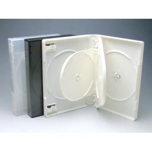 厚手Mロックケース 5枚用 白/スーパークリア色 マルチタイプ  DVDケース・トールケース5枚用 kosakashop