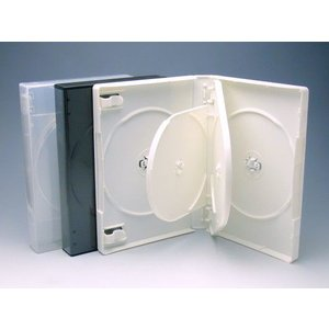 厚手Mロックケース 6枚用 白/3スーパークリア色 マルチタイプ  DVDケース・トールケース6枚用 kosakashop