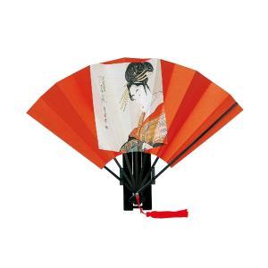 扇子 歌麿美人画 飾り扇子(9寸)2種類   飾り お土産用|kosakashop