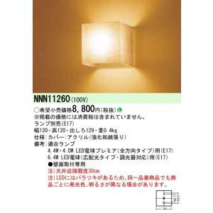 N区分 パナソニック施設照明器具 NNN11260 ブラケット 一般形 ランプ別売 LED koshinaka