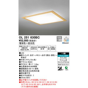 クリアランスsale 期間限定 T区分オーデリック照明器具 OL251630BC シーリングライト リモコン別売 SALE開催中 LED