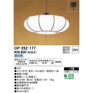 お求めやすく価格改定 宅配便不可 T区分オーデリック照明器具 OP252177 LED 新生活 ペンダント