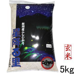 新潟産コシヒカリデラックス玄米 5kg(5kg×1袋) コシ...