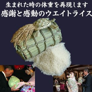 3kgの米俵に3000g〜3500g用 (出生体重と同じ重さで作成します)|kosihikari