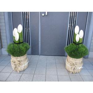 開運門松 天然の国産真竹 正月飾り 迎春 60cm 1対|kosikawa-tikuzai
