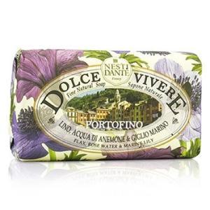 ネスティダンテ ドルチェ ヴィヴェーレ ファイン ナチュラル ソープ #Portofino #Flax、Rose Water & Marine Lily 250g|kosmake-belleza