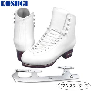 フィギュアスケート スケート靴 KOSUGI(コスギ) F2A スターターズセット 白/黒|kosugi-skate