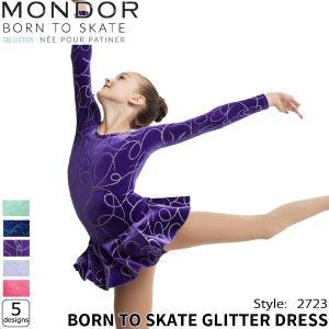 フィギュアスケート ウェア MONDOR(モンドール) グリッタードレス 2723N [5design] kosugi-skate