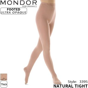 MONDOR タイツ 3395-FOOTED NATURAL TIGHT ラッピング可 -TC/LP+