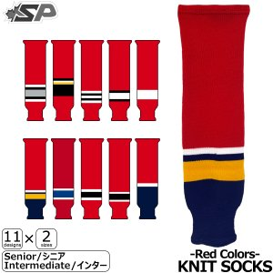 SP Apparel ストッキング KNIT SOCKS-Red Colors- Senior/シニア,Intermediate/インター ラッピング可