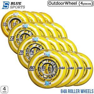 インラインスケート ウィール BLUESPORTS(ブルースポーツ)ROLLER WHEELS 84A(4ヶ入)[3sizes]【レターパック可】