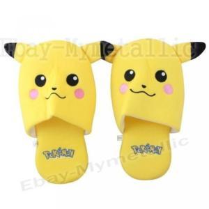 ポケモン Pokemon Pikachu Thin Soft Plush Slipper One Pair 正規輸入品