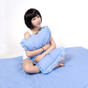 接触冷感枕カバー43x63cm メール便発送 綿100% 日本製 可愛いレース付フリル ほんの少しだ...