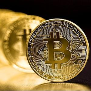 ビットコイン BitCoin 金運 お守りにも ポイント消化 専用ケース付き レプリカ 仮想通貨 (...