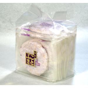 紫蘇せんべい 袋入 紫蘇入りのメレンゲでコーティング|kotobukiseika