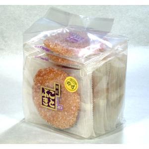 ゆずザラメせんべい 袋入 ザクザクザラメに爽やか柚子の香り|kotobukiseika