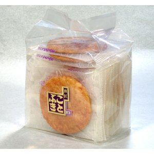 味噌せんべい 袋入 甘めの味噌で煎餅をコーティング|kotobukiseika