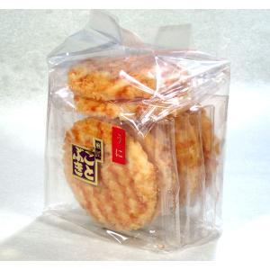 うに揚せんべい 袋入 ウニを使用した濃厚なタレで味付け|kotobukiseika