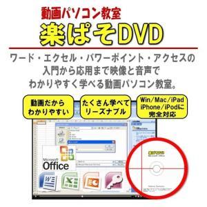 パソコン教材DVD・エクセル・ワード・ 動画パソコン教室【楽ぱそDVD】オフィス2019対応版