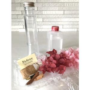 ハーバリウム キット 花材 あじさい 12種類から選べる 花材+瓶+オイル プリザーブドフラワーキット ドライフラワー hs105|kotohana