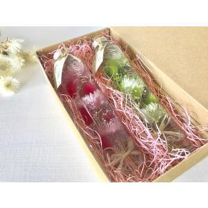 【名入れ】 ハーバリウム healing 5色から2本選べる ★デザインボトル★ 紫 赤 黄 青 緑|kotohana