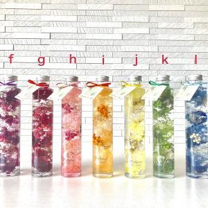 【名入れ】 ハーバリウム healing 5色から2本選べる ★デザインボトル★ 紫 赤 黄 青 緑|kotohana|03