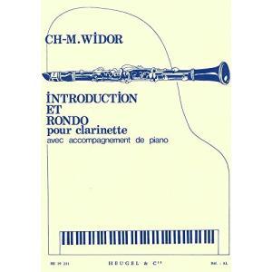 ヴィドール : 序奏とロンド (クラリネット、ピアノ) ウジェル出版|kotohugshop